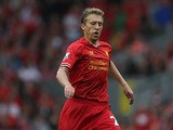 Liverpool's Lucas in action against Stoke on August 17, 2013