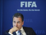 Michael J Garcia, Chairman of the investigatory chamber of the FIFA Ethics Committee, gestures during a press conference at the FIFA's headquarter on July 27, 2012