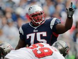 New England Patriots' Vince Wilforkin action against Tampa Bay Bucaneers on September 22, 2013