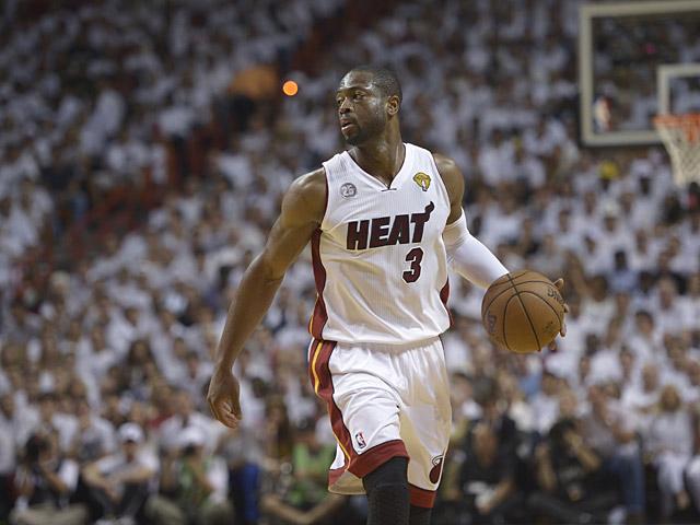 Miami Heat's Dwyane Wade in action against San Antonio Spurs on June 18, 2013