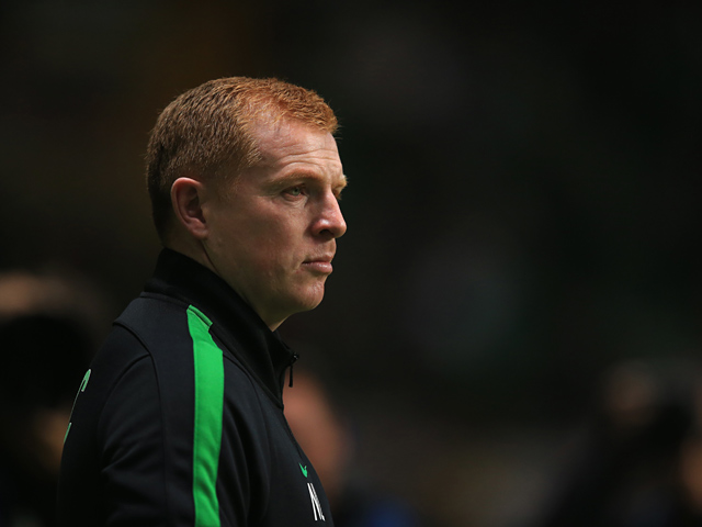 Celtic manager Neil Lennon prior to kick-off during the Champions League match against Barcelona on October 1, 2013