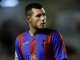 Levante's David Navarro in action against Rayo Vallecano on August 30, 2013