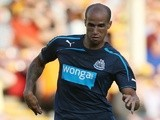 Gabriel Obertan of Newcastle United in action during the Pre Season Friendly match between Motherwell and Newcastle United at Fir Park on July 16, 2013