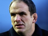 Former England and Leicester Tigers player Martin Johnson looks on after the Aviva Premiership match between Leicester Tigers and London Welsh at Welford Road on February 9, 2013