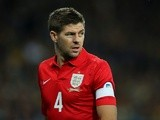 England skipper Steven Gerrard looks on during the FIFA 2014 World Cup Qualifying Group H match between Ukraine and England at the Olympic Stadium on September 10, 2013