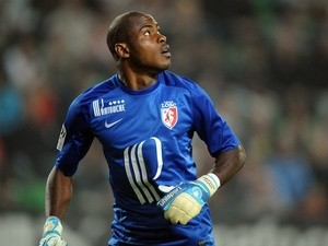 Lille's Nigerian goalkeeper Vincent Enyeama is pictured during the French L1 football match Rennes (SRFC) vs Lille (LOSC) on August 31, 2013