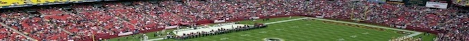 An interior view of Fed Ex Field before the game between the Washington Redskins and the Kansas City Chiefs on September 30, 2001