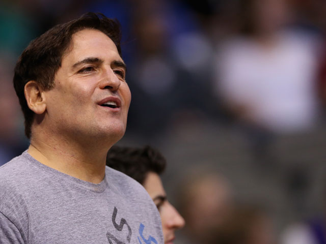 Owner, Mark Cuban of the Dallas Mavericks at American Airlines Center on February 24, 2013