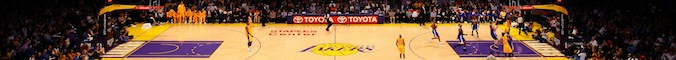 A general view of the court during the game between the Golden State Warriors and the Los Angeles Lakers at Staples Center on January 6, 2012