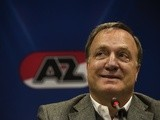 New AZ boss Dick Advocaat speaks during a press conference in the Afas stadium in Alkmaar, on October 16, 2013