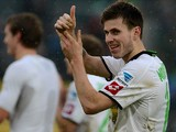 Borussia Moenchengladbach's Havard Nordtveit at the end of the match against Dortmund on February 24, 2013