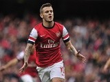 Arsenal's Jack Wilshere celebrates after scoring against Norwich during the English Premier League football match on October 19, 2013