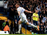 Matt Smith of Leeds United celebrates scoring during their Sky Bet Championship match between Leeds United and Birmingham City at Elland Road Stadium on October 20, 2013