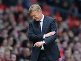 Manchester United manager David Moyes during the Barclays Premier League match between Manchester United and Southampton at Old Trafford on October 19, 2013