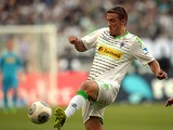 Borussia Moenchengladbach's Max Kruse in action against Hanover 96 on August 17, 2013