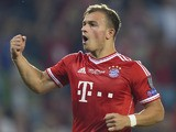 Bayern Munich's Swiss midfielder Xherdan Shaqiri reacts during the UEFA Super Cup football match FC Bayern Munich vs Chelsea FC on August 30, 2013