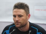New Zealand cricket captain Brendon McCullum looks on during a press conference at the at the Sher-e Bangla National Stadium in Dhaka on October 20, 2013