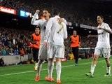 Cristiano Ronaldo celebrates scoring the winning goal during the El Clasico in April 21, 2012.