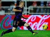 Real Valladolid's Daniel Larsson scores his team's second goal against Rayo Vallecano on October 25, 2013