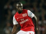 Arsenal's Emmanuel Frimpong passes the ball during the game against Shrewsbury Town during the Carling Cup third round football match at the Emirates Stadium in London on September 20, 2011