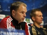 Ajax Amsterdam head coach Frank De Boer attends a press conference on September 30, 2013