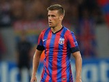 Mihai Doru Pintilii of FC Steaua Bucuresti in action during the UEFA Champions League play-off first leg match between FC Steaua Bucuresti and Legia Warszawa held on August 21, 2013