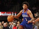 Philadelphia 76ers' Nick Young in action against Brooklyn Nets on December 23, 2012