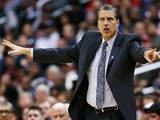 Head coach Randy Wittman of the Washington Wizards motions from the bench during the second half of the Wizards 90-86 win over the Chicago Bulls at Verizon Center on April 2, 2013