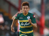 QPR's Yun Suk-Young in action against Exeter during a friendly match against July 11, 2013