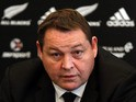 All Blacks coach and selector Steve Hansen during the New Zealand All Blacks squad announcement at the Southern Cross Hotel on October 20, 2013