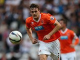 Jack Robinson of Blackpool in action during the Capital One Cup first round match between Preston North End and Blackpool at Deepdale on August 5, 2013