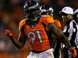 Denver Broncos' Robert Ayers in action against Oakland Raiders on September 23, 2013