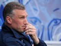 Leicester City manager Nigel Pearson looks on ahead of the Championship playoff semi-final against Watford on May 9, 2013