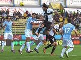 Parma's Alessandro Lucarelli heads in the equaliser against Lazio on November 10, 2013