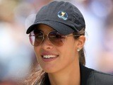 Serbian tennis player Ana Ivanovic watches the action during the Day Four Singles Matches of the 2011 Presidents Cup on November 20, 2011