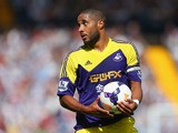 Ashley Williams of Swansea looks on during the Barclays Premier League match between West Bromwich Albion and Swansea City at The Hawthorns on September 01, 2013