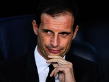 Head coach Massimiliano Allegri of AC Milan looks on during the UEFA Champions League Group H match Between FC Barcelona and AC Milan at Camp Nou on November 6, 2013