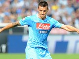 Christian Maggio of Napoli in action during the Serie A match between SSC Napoli and Torino FC at Stadio San Paolo on October 27, 2013
