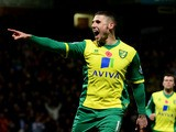 Gary Hooper of Norwich City celebrates as he scores their first goal from the penalty spot during the Barclays Premier League match between Norwich City and West Ham on November 9, 2013