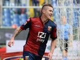 Genoa's Juraj Kucka celebrates after scoring his team's second goal against Hellas Verona on November 10, 2013