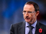 New Ireland Manager Martin O'Neill looks on prior to the UEFA Champions League Group A match between Real Sociedad de Futbol and Manchester United at Estadio Anoeta on November 5, 2013
