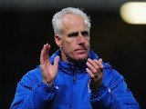 Ipswich Town manager Mick McCarthy applauds during a game on November 27, 2012