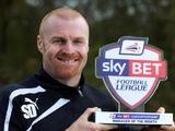 Burnley manager Sean Dyche with his Manager of the Month award for October on November 7, 2013