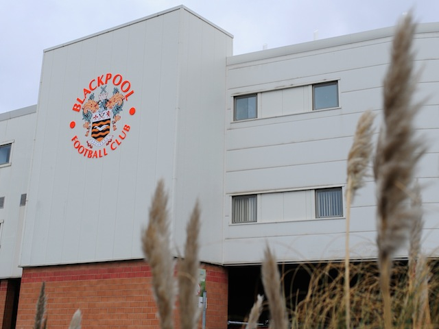 A general view of Blackpool's home ground Bloomfield Road on February 23, 2013
