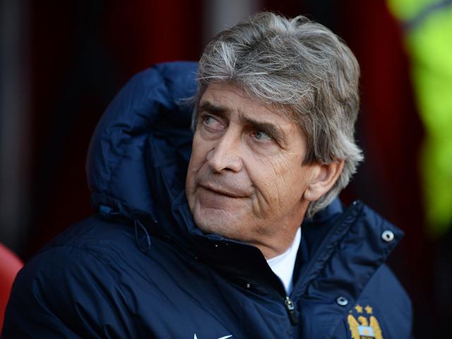 Man City manager Manuel Pellegrini prior to kick-off against Sunderland on November 10, 2013