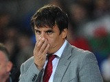 Wales manager Chris Coleman looks on during the FIFA 2014 World C