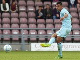 Conor Thomas of Coventry City in action during the Sky Bet League One match between Coventry City and Colchester United at Sixfields Stadium on September 8, 2013