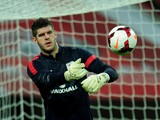 Fraser Forster of England looks on prior to the international friendly match between England and Chile at Wembley Stadium on November 15, 2013