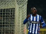 Porto's Colombian forward Jackson Martinez celebrates after scoring during the Portuguese Cup football match VSC Guimaraes vs FC Porto at Afonso Henriques Stadium in Guimaraes on November 10, 2013