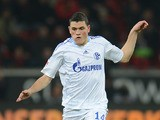 Schalke's Kyriakos Papadopoulos in action against Leverkusen during their Bundesliga match on November 17, 2012